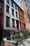 New York City brownstones at historic Brooklyn Heights neighborhood Royalty Free Stock Photos