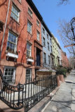 New York City brownstones at historic Brooklyn Heights neighborhood Stock Photography