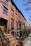 New York City brownstones at historic Brooklyn Heights neighborhood. New York City brownstones at historic Brooklyn Heights  neighborhood Stock Images
