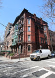 New York City brownstones at historic Brooklyn Heights neighborhood. BROOKLYN, NEW YORK - APRIL 11, 2017: New York City brownstones at historic Brooklyn Heights Stock Photography