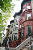 New York City brownstones at historic Prospect Heights neighborhood Royalty Free Stock Photos