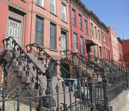 New York City brownstones Royalty Free Stock Image