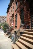 New York City brownstones at Soho  neighborhood in Lower Manhattan. NEW YORK - JUNE 12, 2016: New York City brownstones at Soho  neighborhood in Lower Manhattan Stock Image