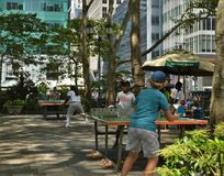 New York City Bryant Park Recreational Games Event photographie stock