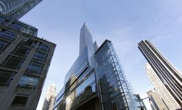 New york city architecture buildings. New York city buidings and skycrappers, materials and shapes Stock Images