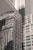 New York City Building Reflection Royalty Free Stock Images