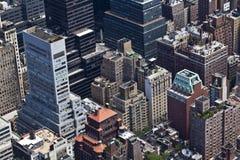 New York City building tops Stock Photos