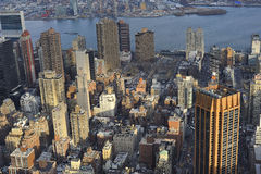 New York City Buildings. A shot from above of buildings in manhattan Stock Image