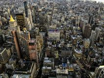 New York City buildings from high above royalty free stock photo