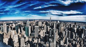 New York. City, buildings life Royalty Free Stock Photos