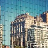 New York City buildings reflection Stock Photos