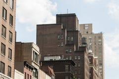 New York City buildings seen from street Stock Photos