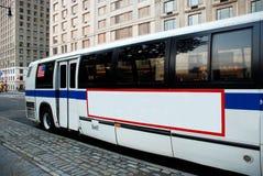 New York City bussar Royaltyfria Bilder