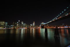 New York City By Night Royalty Free Stock Images