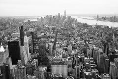New York City céntrico, blanco y negro Imagenes de archivo