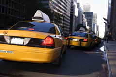 New York City Cabs. New York City Yellow Cabs waiting for passengers Stock Images