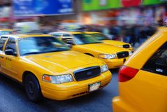 New York City Cabs. New York City Yellow Cabs waiting for passengers Royalty Free Stock Images