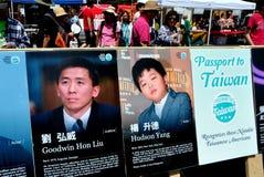 New York City: Carteles Taiwanés-americanos Imagenes de archivo