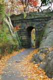 New York City Central park. Stone bridge in Autumn in New York City Central park Royalty Free Stock Photos