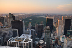 New York City Central Park aerial view Royalty Free Stock Image