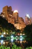 New York City Central Park alla notte fotografia stock libera da diritti
