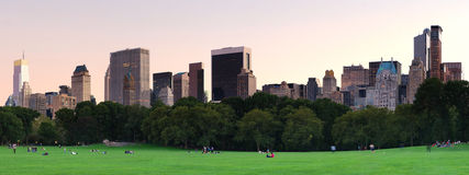 Free New York City Central Park At Dusk Panorama Royalty Free Stock Images - 17629509