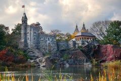 New York City Central Park Belvedereslott Royaltyfri Fotografi