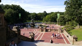 New York City Central Park Bethesda Fountain Stock Photography