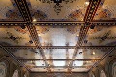 New York City central park Bethesda Terrace underpass arcade det Royalty Free Stock Photo