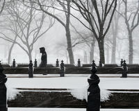 New York City, 1/23/16: Central Park covered in heavy snow during Winter Storm Jonas Royalty Free Stock Photography