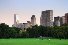 New York City Central Park at dusk panorama Royalty Free Stock Photos