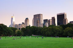 New York City Central Park at dusk panorama Royalty Free Stock Photo