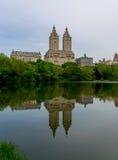 New York City Central Park The Eldorado Reflection. New York City - Central Park - The Eldorado Reflection Stock Photos