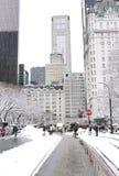 New York City Central Park en hiver Images libres de droits