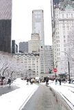 New York City Central Park en invierno Imágenes de archivo libres de regalías