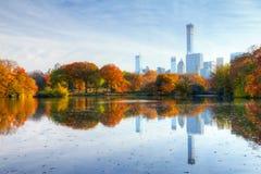 New York City Central Park Fall Lake. NEW YORK CITY - Central Park lake in Fall Royalty Free Stock Image