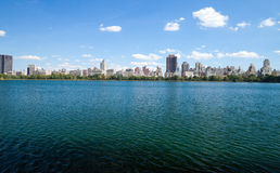New York City, Central Park, Jacqueline Kennedy Onassis Reservoi Stock Images