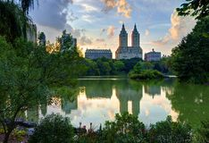 New York City Central Park Lake Stock Photos