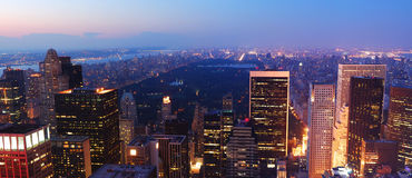 New York City Central Park Manhattan panorama Royalty Free Stock Photos