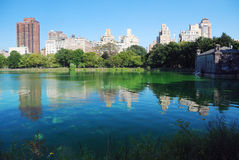 New York City Central Park Manhattan skyline stock photography