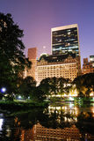 New York City Central Park night view Royalty Free Stock Images