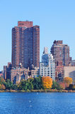 New York City Central Park over lake Royalty Free Stock Image