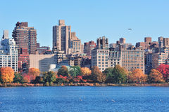 New York City Central Park over lake Royalty Free Stock Photos