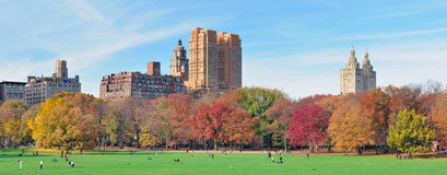 New York City Central Park panorama at autumn Royalty Free Stock Photos