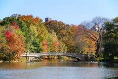 New York Central Park Rainbow Bridge Royalty Free Stock Photo