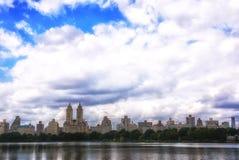 New York City Central Park reservoir Stock Images
