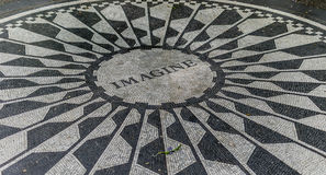 New York City Central Park Strawberry Fields Stock Images