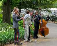 New York City Central Park Street Performers Stock Image