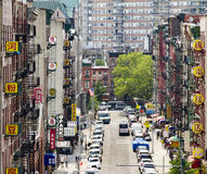 New York City Chinatown Street View Royalty Free Stock Image