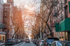 New York City on Christmas Day. In winter royalty free stock photography
